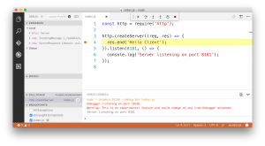 Debug your Node.js application in Visual Studio Code