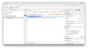 Debug your Node.js application with Chrome Developer Tools
